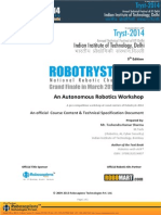 Autonomous Robotics Workshop Technical Specification Document Copy