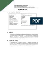 SILABUS 2012-3  DE MÁQUINAS ELÉCTRICAS