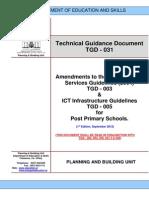 TGD 031 Amendments to the M E D 005 for Post Primary Schools 1