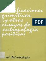 Durkheim, Émile y Mauss, Marcel. Clasificaciones primitivas y otros ensayos de antropología positiva