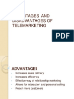 Advantages and Disadvantages of Telemarketing