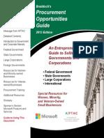Procurement Opportunities Guide 2013