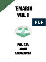 Temario Policia Local Andalucia Volumen 1