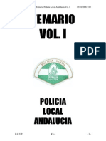 Temario Policia Local Andalucia Volumen 1