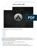 Archlinux Luks sur LVM pour SSDs / TRIM