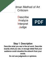 Feldman Method of Art Criticism