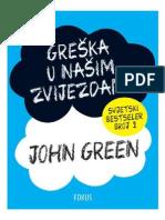 John Green - Greška u našim zvijezdama
