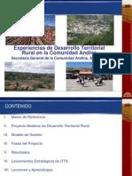 Experiencias de Desarrollo Territorial en La Comunidad Andina