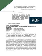 La Impulsion de Oficio en El Proceso Civil Peruano No Sustituye a La Impulsion de Las Partes