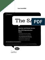 SAT May 2013 Paper