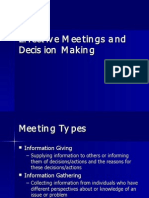 Effective Meetings Decisions