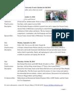 Irish Studies Program - Events Calendar