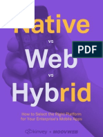 Kinvey Native vs Web vs Hybrid
