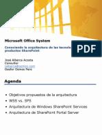 WebCast Conociendo La Arquitectura SharePoint 17 Agosto