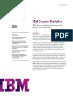 IBM Cognos Statistics