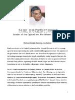 Hon. Leader's CV