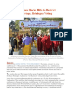 Monk Conference Backs Bills to Restrict Interfaith Marriage, Rohingya Voting