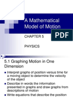 Ch 5 Mathematical Model of Motion Notes