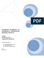 Administracion y Legislacion Educativa PADEP