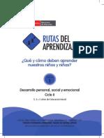 Desarrollo Personal Social y Emocional - II Ciclo