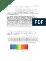 IB HL Chemistry Assessment Statements Option A