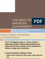the need for an american government