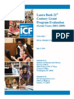 Laura Bush 21st  Century Grant Program Evaluation  (Grant Years 2003–2009) Vol. II (Appendices)