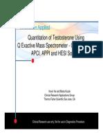 Testosteron LC MS MS APPI