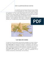 DEFINICIÓN Y CLASIFICACIÓN DE COSTAS