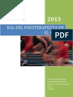 Rol de La Fisioterapia en La Actividad Fisica y El Deporte