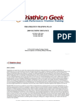 Sample Olympic Distance Triathlon Training Plan