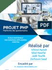 platform e-learning en PHP