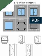 Tipos de Puertas y Ventanas