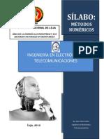 Syllabus Métodos Numéricos