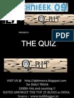 Quiz @ Technieek Prelims