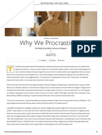 Why We Procrastinate - Issue 9_ Time - Nautilus