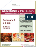 February Potluck Poster - Chinese New Year