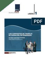 LOS CONTRATOS DE TRABAJO DE DURACIÓN DETERMINADA
