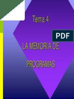 TEMA 04 Memoria de Programa