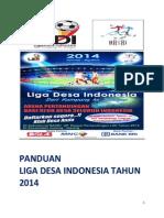 PANDUAN LIGA DESA INDONESIA TAHUN  2014