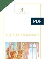 The Ritz London - Restaurant Menu 2009