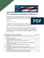 SELF-ASSESSMENT OF SPEAKING PROFICIENCY