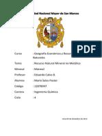 Recurso Mineral no Metálico-Mario Salas Pastor