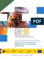 OPERACIONES AUXILIARES DE ELAB EN LA IND ALIMENTARIA.  Lic. Jose Antonio Peñafiel Vasquez Especialidad Industrias Alimentarias