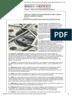 Correo del Orinoco » Según estudio realizado por expertos bancarios_Las diez claves para detectar rápidamente dólares falsos » Print