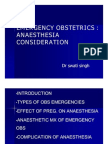 Emergencies Obstetrics Anaesthesia