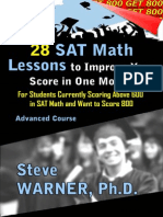 28 Advanced SAT Math Lessons