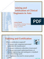 Training and  Certification of Clinical  Engineers in Asia