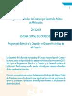 CONVOCATORIA PROGRAMA ESTÍMULO A LA CREACIÓN 2013-2014