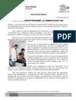 16/01/114 HÁBITOS HIGIÉNICOS REDUCEN HASTA EN 80 POR CIENTO LOS CASOS DE TUBERCULOSIS